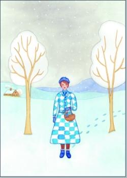 Frau in Winter