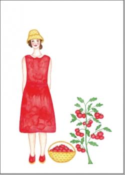 Frau mit Tomaten