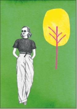 Frau grün